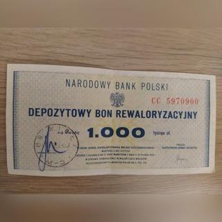 Depozytowy bon rewaloryzacyjny 1000 zł доставка товаров из Польши и Allegro на русском
