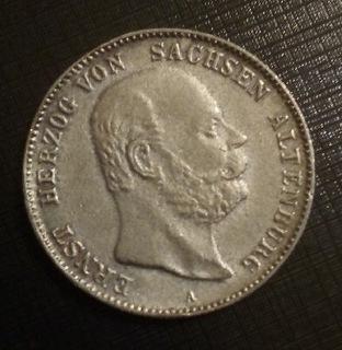 Копия 2 марки монеты 1901 Эрнст Герцог фон Саксен  доставка товаров из Польши и Allegro на русском