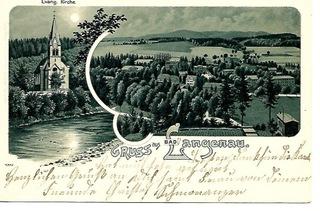 Długopole Zdrój (Bad Langenau), 1902 r, do Wiednia доставка товаров из Польши и Allegro на русском