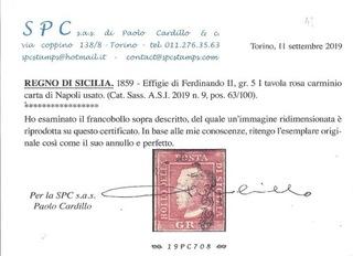 1859 SYCYLIA Sassone 9 ekspertyza PAOLO CARDILLO доставка товаров из Польши и Allegro на русском