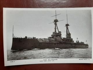 HMS BELLEROPHON brytyjski pancernik I WŚ 1913 доставка товаров из Польши и Allegro на русском