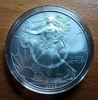2009 Srebrna Moneta Amerykański Orzeł Liberty Cert доставка товаров из Польши и Allegro на русском