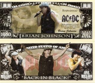 Брайан Джонсон AC / DC в миллион банкнота долларов  доставка товаров из Польши и Allegro на русском