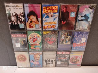 Kasety Audio pakiet 32szt mix taśmy magnetofon  доставка товаров из Польши и Allegro на русском