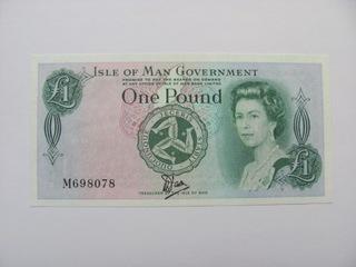 Остров Мэн - 1 фунт 1983 М - TYVEK - редко доставка товаров из Польши и Allegro на русском