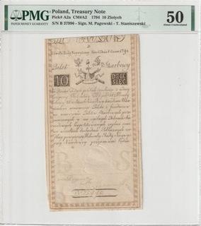 10 злотых 1794 - Б - св. PMG 50  доставка товаров из Польши и Allegro на русском