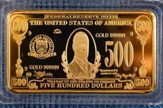 500 dolarów USA sztabka replika доставка товаров из Польши и Allegro на русском