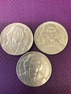Набор из трех монет 10 злотых Коперник 1959 доставка товаров из Польши и Allegro на русском