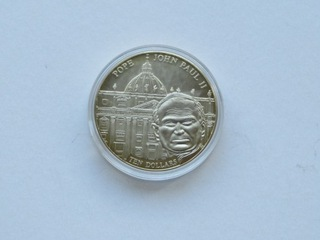 Liberia - 10 $  2005,   Jan Paweł II доставка товаров из Польши и Allegro на русском