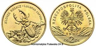 Moneta 2 zł Jelonek rogacz 1997 доставка товаров из Польши и Allegro на русском