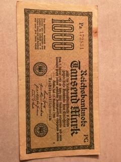 Banktot 1000 marek 1922 rok  доставка товаров из Польши и Allegro на русском