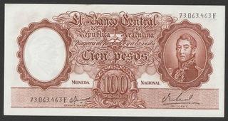 Аргентина 100 песо 1967/69 - состояние банковское-UNC доставка товаров из Польши и Allegro на русском
