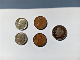Zestaw 5 monet USA, 1 z 1907 r. доставка товаров из Польши и Allegro на русском