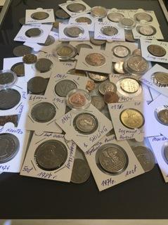 Старые монеты польские и зарубежные 55 штук доставка товаров из Польши и Allegro на русском