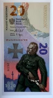 3 x banknot 20zł BITWA WARSZAWSKA 2020R. + foldery доставка товаров из Польши и Allegro на русском