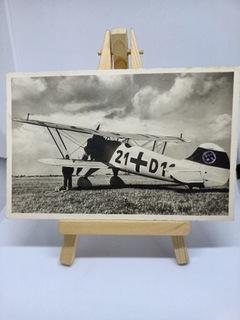 Старая открытка с военным самолетом (сохранена)  доставка товаров из Польши и Allegro на русском