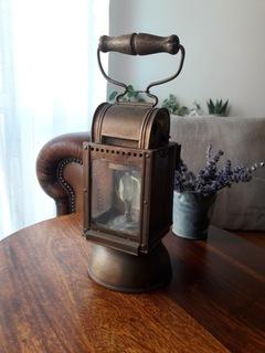 Довоенная лампа из карбида латуни 1936 г.  доставка товаров из Польши и Allegro на русском