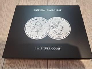 Liść Klonowy 1oz srebrna moneta, srebro  доставка товаров из Польши и Allegro на русском