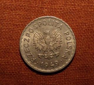 1 zł złoty 1949 MN  доставка товаров из Польши и Allegro на русском