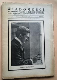 WIADOMOŚCI NUMIZMATYCZNO ARCHEOLOGICZNE ROK 1924 доставка товаров из Польши и Allegro на русском