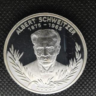 1000 франков Того 2000 Альберт Швейцер Серебро  доставка товаров из Польши и Allegro на русском