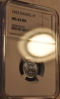 WMG 1 fenig 1923 MS64 BN NGC ŁADNY od 1zł доставка товаров из Польши и Allegro на русском