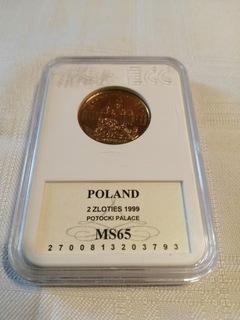 2 zł - Pałac Potockich 1999 rok!! Mennicza доставка товаров из Польши и Allegro на русском
