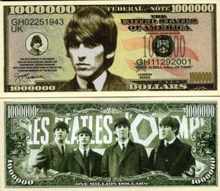 Джордж Харрисон Банкнота в миллион долларов из Битлз  доставка товаров из Польши и Allegro на русском