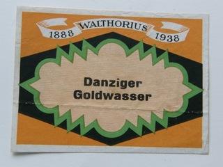 DANZIGER GOLDWASSER 1938 LABEL  доставка товаров из Польши и Allegro на русском