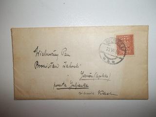 Конверт с письмом. Письмо. 1930 доставка товаров из Польши и Allegro на русском