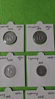 Набор монет DDR 1-5-10-50 пфеннигов 1948-53 доставка товаров из Польши и Allegro на русском