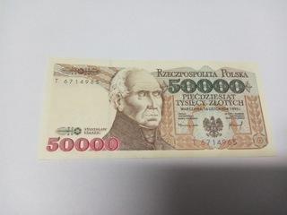Banknot  50000 zł UNC Oryginał seria T доставка товаров из Польши и Allegro на русском