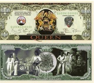 КОРОЛЕВА банкнота миллиона долларов  доставка товаров из Польши и Allegro на русском