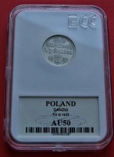 1/2 Guldena 1923 r. Koga srebro доставка товаров из Польши и Allegro на русском