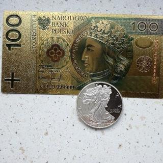 Złoty banknot i moneta USA 2000 r доставка товаров из Польши и Allegro на русском