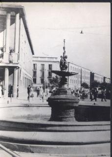 Białystok widok ul. Sienkiewicza, fontanna доставка товаров из Польши и Allegro на русском