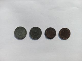 Zestaw 4 monet Niemcy Reichspfennig доставка товаров из Польши и Allegro на русском