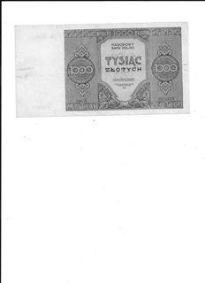 Banknot 1000 zł 1945r A. stan zach. III+/II- доставка товаров из Польши и Allegro на русском