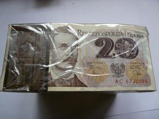 20 злотых 1982 серия AC Банковская пачка 100шт доставка товаров из Польши и Allegro на русском
