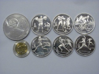 6 x 1 rubel 1991 Barcelona + 5 rubli 1987 доставка товаров из Польши и Allegro на русском