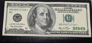 100 dollar 2006 A Star Note KB 00071718* доставка товаров из Польши и Allegro на русском