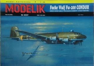 FOCKE WULF FW -200 CONDOR MODELIK Nr 25/2007 доставка товаров из Польши и Allegro на русском