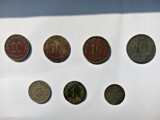 Zestaw 7 monet Cesarstwo Niemieckie, 1 z 1797 r. доставка товаров из Польши и Allegro на русском