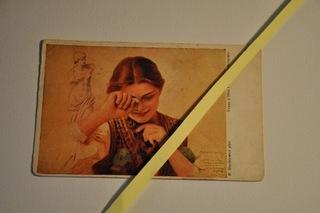 stara pocztówka 1929  Malarstwo  Honorka Folklor доставка товаров из Польши и Allegro на русском