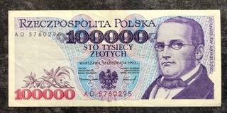 100 000 злотых 1993 - AD - Санкт  доставка товаров из Польши и Allegro на русском