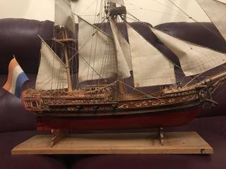 КРАСИВАЯ МОДЕЛЬ КОРАБЛЯ HMS доставка товаров из Польши и Allegro на русском