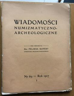 WIADOMOŚCI NUMIZMATYCZNO ARCHEOLOGICZNE Nr 69/1907 доставка товаров из Польши и Allegro на русском