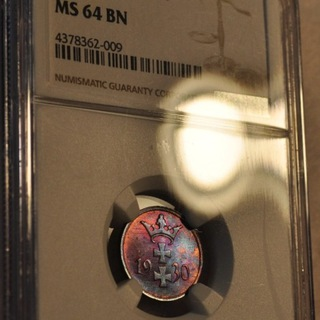 WMG 1 fenig 1930 MS64 BN NGC TĘCZOWY CUDO od 1zł доставка товаров из Польши и Allegro на русском