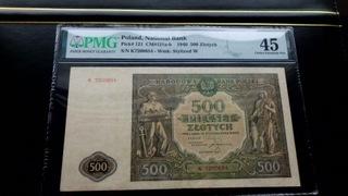 5OO zł 1946 - Grading PMG 45 - ( 2+) доставка товаров из Польши и Allegro на русском