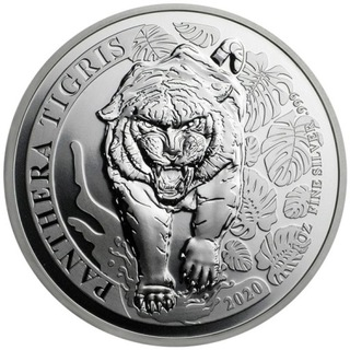Panthera Tigris 2020 Лаос 500 KIP 1 унция серебра  доставка товаров из Польши и Allegro на русском